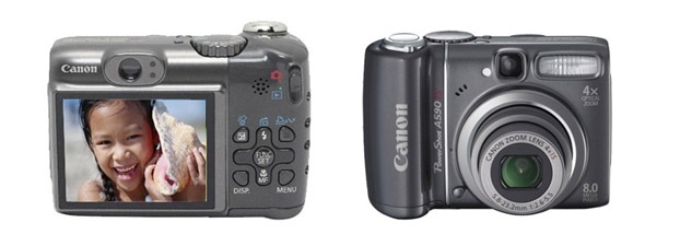 Canon PowerShot A590IS 8MP Digital Camera