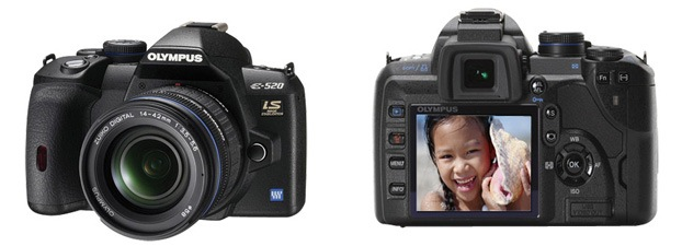 Olympus E-520 10.0MP DSLR Camera