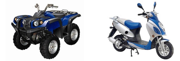 ATV 700cc 4x4 & 150cc Gas Scooter