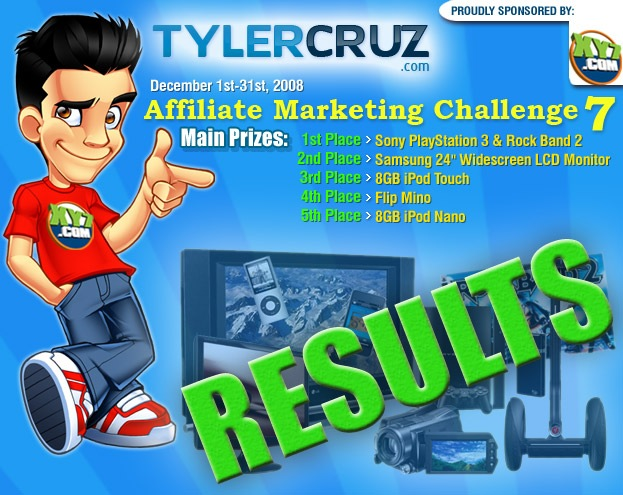 Affiliate Marketing Challenge 7 Results