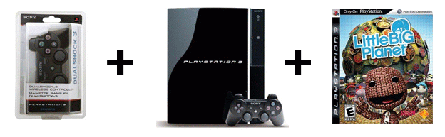 ny 80GB PS3, Extra Controller, and LittleBigPlanet