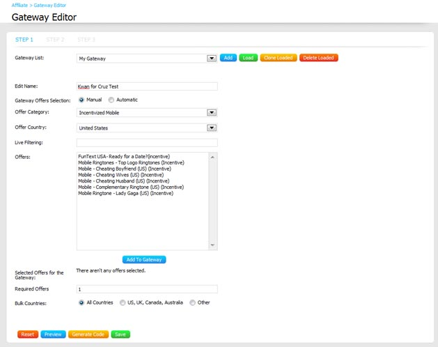 A New Gateway Editor for BLAM! Ads